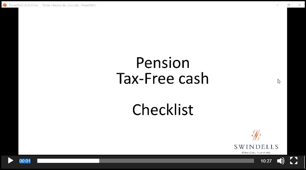Pension: Tax-Free Cash Checklist